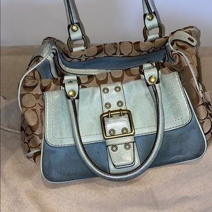 Vintage Authentic Coach Tote and Wallet